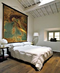 map over bed