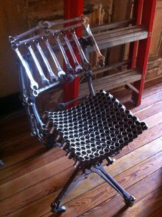 Upcycled Tools Chair at Demolition Depot, Harlem NYC