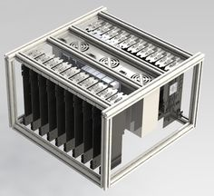 Custom frame for LTC mining (Up to 24 GPU ) for $148 - 16,800 kH/s with 7970