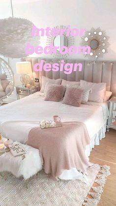 Cute Bedroom Decor, Cute Bedroom Ideas, Room Design Bedroom, Pretty Bedroom, Small Room Bedroom, Room Ideas Bedroom, Nursery Ideas, Bedroom Modern, Minimalist Bedroom