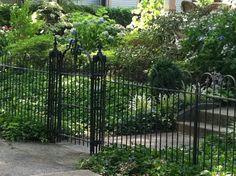 Vintage wrought iron fence, Marietta, Ohio