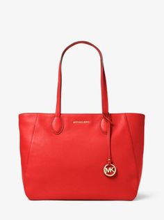Find the Ani Large Leather Tote by Michael Kors at Michael Kors.