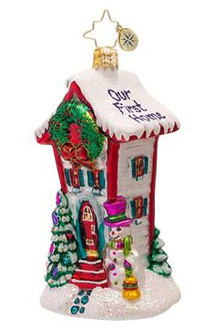 Christopher Radko 'Where the Heart Is' Ornament available at #Nordstrom - Our First Home Ornament