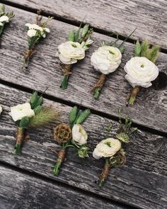 The Boutonnieres - Maureen And Charles's Rustic Wedding In The Berkshires
