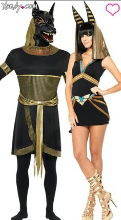 Egyptian Rulers Couples Costume, Pharaoh And Queen Couples Costume ...