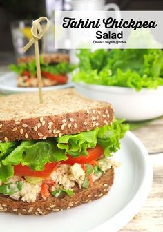 Tahini Chickpea Salad @diannewenz