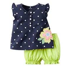 3278961ac Clothing for babies Summer Hot Colourful Casual Cute Set Suit Short Romper  Clothes Baby Girls Clothing Sets