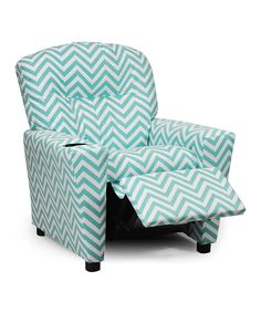 Look at this Aqua Ziggi Kids' Recliner & Cup Holder on #zulily today!