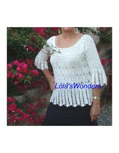 Fall fashion women's crochet Top Tunic Pull over by LolasWonders Baby Blanket Crochet, Crochet Baby, Crochet Top, Baby Blankets, Women's Clothing, Autumn Fashion, Tunic Tops, Clothes For Women, Trending Outfits