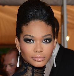chanel iman @ met ball 2012