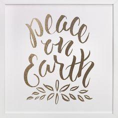 Peace on Earth by Sam Dubeau at minted.com