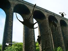 Photodoodle of some Dangles hanging about the railway in Huddersfield.