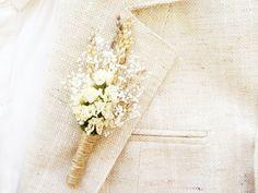 Boutonnière de mariage rustique pour hommes, épinglette, marié boutonnière, corsage de garçons d