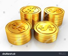 group of gold usa dollar coins stacks on white background Android Hacks, Dollar Coin, Coins, Thankful, Illustration, Gold, Gifts, Coining, Favors