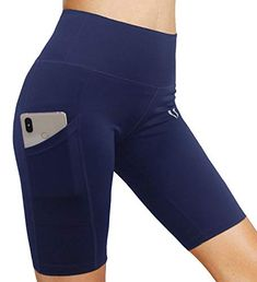 FIRM ABS Womens Cycling Running Workout Tights Yoga Shorts Half Tights With PocketsThese are the new Yoga Shorts, Workout Shorts, Abs Women, Sports Brands, Shorts With Pockets, Athletic Shorts, No Equipment Workout, High Waist, Running