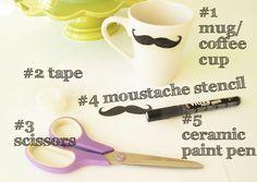 kandeej.com: DIY Craft & Gift Idea: Mustache Mug