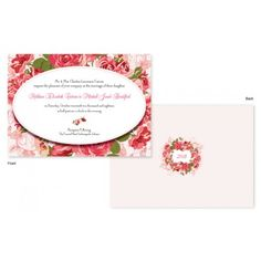 If you are planning a rose-themed wedding or if you think life is a bowl of roses, you'll thrill at the look of the rose background with these unique invitations. Garden Wedding Invitations, Unique Invitations, Floral Invitation, Orange And Pink Wedding, Green Wedding, Pink And Green, Rose Background, On Your Wedding Day, Blush Pink