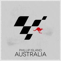 MotoGP Tour Logo: rorund 16, Australia.