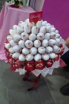 kinder chocolate joy kinder bar kinder surprise egg cake tower candy gift idea basket box valentines day birthday mother ay wedding present romantic romance love heart bow red bouquet flowers roses