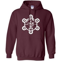 Puerto Rican Flags Up White Logo Pullover Hoodie 8 oz
