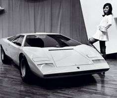 "The wedge™. Marcello Gandini's unmatched ""concord moment"" in automotive design history – the  Countach LP500."