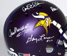 Vikings Purple People Eaters Custom Matte Full Size Helmet Signed