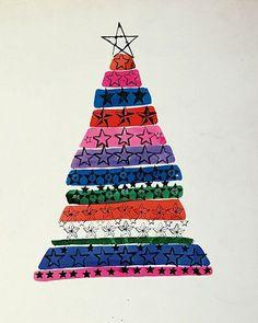 Andy Warhol - Christmas Tree, ca. 1950-1955
