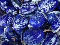 These are Hungarian folk art painted Easter eggs
