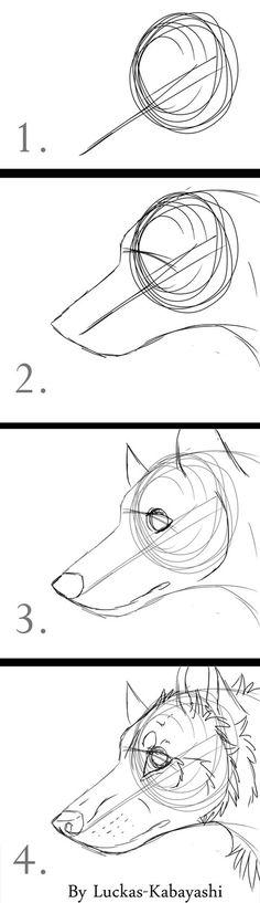 Cómo dibujar- wolf/dog