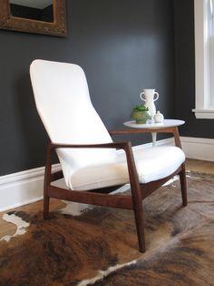 Danish Lounge Chair, Folke Ohlsson for Dux. $700.00, via Etsy.