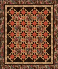 Tribal Council, Ro Gregg (Nov 2012) by Pine Tree Country Quilts at Fabri-Quilt, Inc. Download free pattern at http://fabri-quilt.com/images/pdfs/Tribal%20Council%20Project.pdf