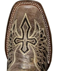 Corral Black Sequin Wing & Cross Inlay Cowgirl Boots - Square Toe | Sheplers