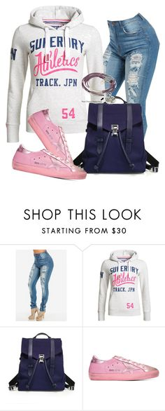 """""""Desportivo"""" by alice-fortuna ❤ liked on Polyvore featuring Superdry, Proenza Schouler, Golden Goose and Lizzy James"""