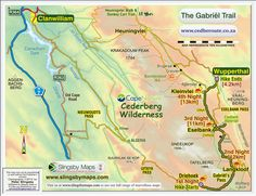 Slackpacking in Western Cape South Africa with Cederberg Heritage Route near Clanwilliam Sa Tourism, Tourist Map, Nordic Walking, Walkabout, Countries Of The World, Hiking Trails, Slogan, South Africa, Adventure
