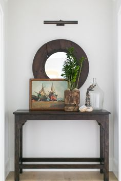 Mix of rustic and vintage in this simply decorated display