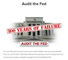 Sign Petition S. 209, The Federal Reserve Transparency Act, would give us a full audit of the Fed. This bill needs to pass. INFOWARS.COM  BECAUSE THERE'S A WAR ON FOR YOUR MIND
