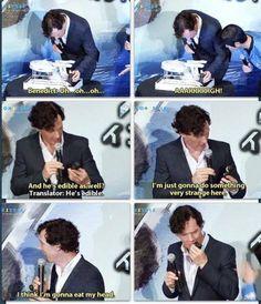 Benedict Cumberbatch and his cake Khan