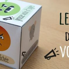 French dice: speaking voices to improve fluency. Le dé des voix Plus French Teaching Resources, Teaching French, Autism Education, Day Camp, Feelings And Emotions, French Lessons, Teaching Music, Home Schooling, Behavior Management