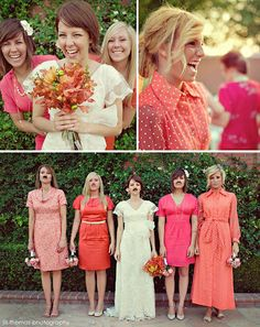 Real Wedding: Rinda + James, A Backyard Wedding.... This is what I want to do for my brides maids...