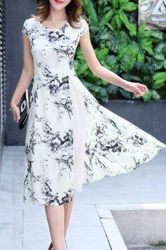 retro black and white dress