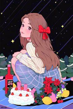Anime Art Girl, Manga Girl, Aesthetic Anime, Aesthetic Art, Alone Art, Cartoon Quotes, Kawaii Art, I Love Anime, Girl Cartoon