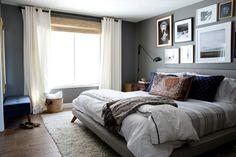 West Elm Mod Upholstered Bed | Chris Loves Julia