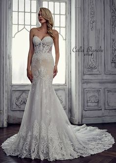 CC's Bridal Boutique offers the Calla Blanche bridal dress Marilyn at a great price. Call today to verify our pricing and availability for the Calla Blanche Marilyn dress. Designer Wedding Gowns, Luxury Wedding Dress, Bridal Wedding Dresses, Bridal Designers, Dream Wedding, Wedding Outfits, Wedding Things, Floral Wedding, Ball Dresses