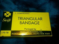 $4.99 Swift VTG Medical Supply Nos First Aid Package Triangular Bandage Sling 170 TB