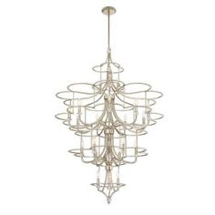 Eurofase Palmisano Collection 21-Light Silver Chandelier 30077-010 at The Home Depot - Mobile