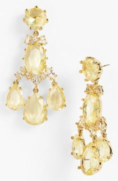 Brilliant, sunshine-hued crystals by kate spade new york