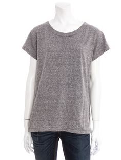 Current/Elliott Crew Tee - Heather - This heather gray tee from Current / Elliott will make the perfect accompinament to your favorite pair of jeans. It's simple, but slim and modern - you'll want to wear it every day.