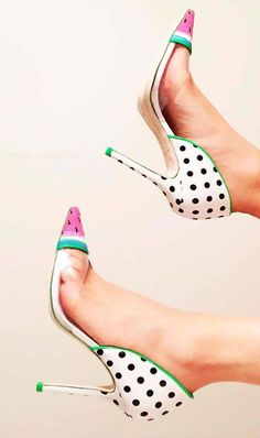 Watermelon Heels #shoes #watermelon #heels