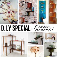 DIY-Home-Decor: CLEVER CORNER D.I.Y IDEAS