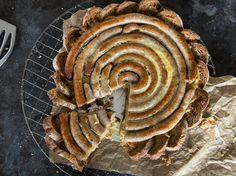 Brottorte mit Bratwurst und Sauerkraut_mag